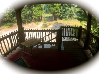cabin porch fence