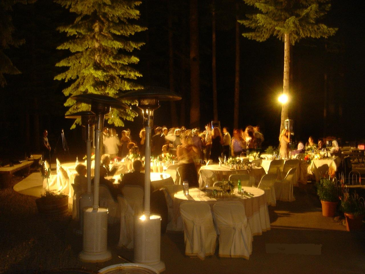 wedding outdoor reception
