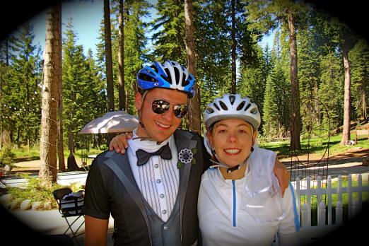 mt bike wedding